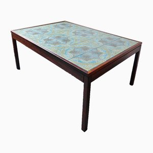 Tiled Rosewood Coffee Table, 1970s