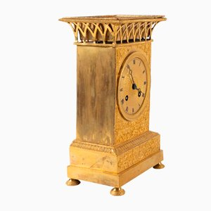Antique Gilt Bronze Clock, 1830s