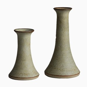 Mid-Century Danish Stoneware Vases by Gerd Bogelund for Gerd Bogelund, 1960s, Set of 2