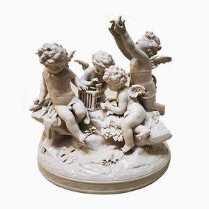 Mid-Century Dekorationsobjekt aus Porzellan von Capodimonte