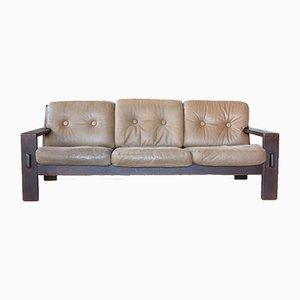 Sofá de cuero de Esko Pajamies para Asko, años 60