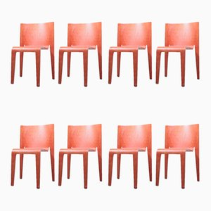 Postmodern Plywood Dining Chairs by Timo Saarnio for P.O. Korhonen, 1990s, Set of 8