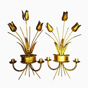 Mid-Century Tulip Sconces from Ferro Art, 1950s, Set of 2