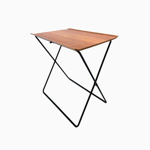 Mid-Century Teak Folding Side Table by Torsten Johansson for Aspö Associates Denmark