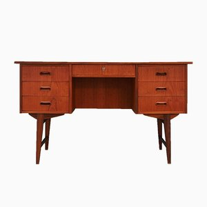 Danish Teak Desk, 1970s