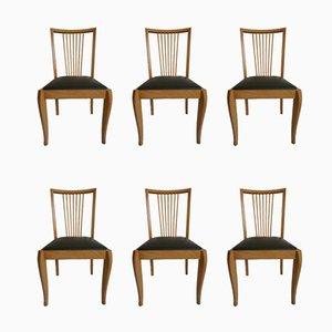 Dänische Mid-Century Esszimmerstühle aus Buche, 1960er, 6er Set