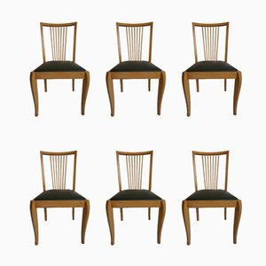 Mid-Century Danish Beech Dining Chairs, 1960s, Set of 6