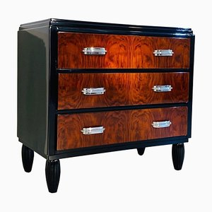 Piano Lacquer and Walnut Finished Dresser, 1920s