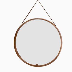 Espejo de teca de Uno & Östen Kristiansson para Luxus, años 50