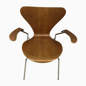 Danish Teak Model AJ3207 Dining Chair by Arne Jacobsen for Fritz Hansen, 1950s