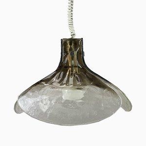Deutsche Mid-Century Deckenlampe aus Eisglas von Kalmar, 1960er