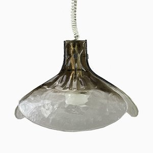 Mid-Century German Ice Glass Ceiling Lamp from Kalmar, 1960s
