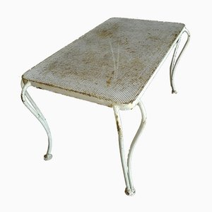 Mesa de té italiana de metal, años 50