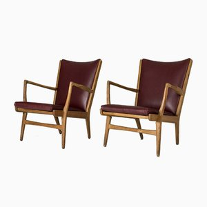 Model AP 16 Lounge Chairs by Hans J. Wegner for A.P. Stolen, 1960s, Set of 2