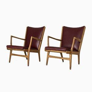 Modell AP 16 Sessel von Hans J. Wegner für A.P. Stolen, 1960er, 2er Set