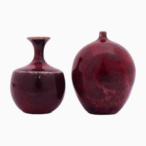 Miniature Vases by Stig Lindberg for Gustavsberg, 1960s, Set of 2