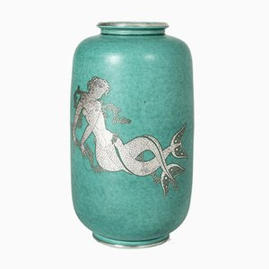 Stoneware Vase by Wilhelm Kåge for Gustavsberg, 1940s
