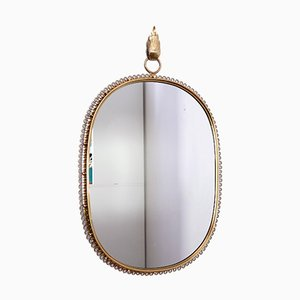 Brass Mirror by Josef Frank for Svensk Tenn, 1950s