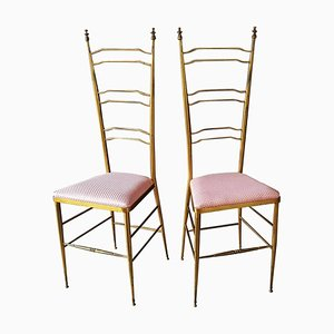 Italian Brass Side Chair from Chiavari, 1950s