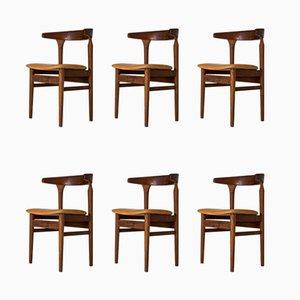 Chaises de Salle à Manger Modèle Cowhorn par Torbjørn Afdal pour Sørlie, 1960s, Set de 6