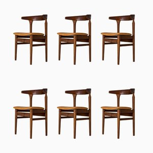 Model Cowhorn Dining Chairs by Torbjørn Afdal for Sørlie, 1960s, Set of 6