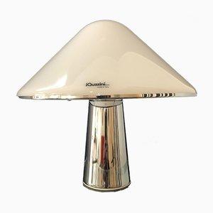 Lámpara de mesa vintage de metal y plexiglás de Guzzini