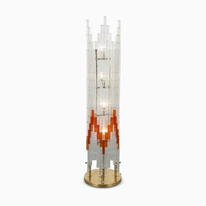 Italian Glass Floor Lamp from Poliarte, 1960s