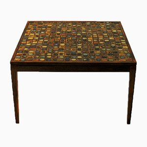 Danish Rosewood and Ceramic Coffee Table, 1960s