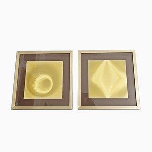Helios Goldgrafiken von Helios, 1970er, 2er Set