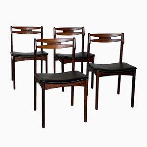 Skandinavische Sitzgruppe aus Palisander von Samcon, 1960er, 4er Set