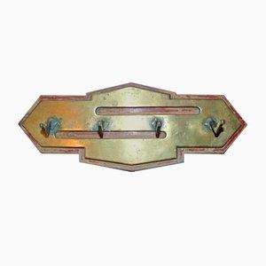 Appendiabiti Art Nouveau antico in ottone