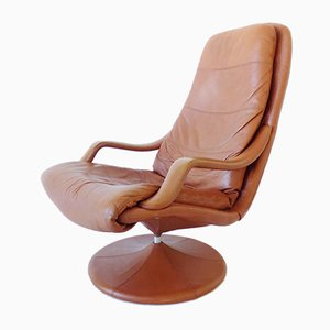 Danish Leather Lounge Chair by Georg Thams for Vejen Polstermøbelfabrik, 1960s