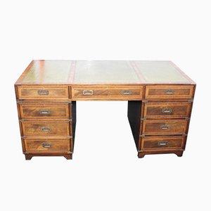 Mahogany Campaign Desk, 1960s