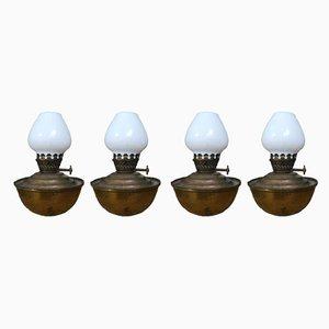 Vintage Tischlampen von CWB British Ware, 4er Set