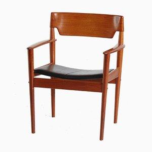 Dänischer Modell PJ4-2 Armlehnstuhl aus Teak von Grete Jalk für P. Jeppesen, 1960er