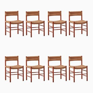 Model Dordogne Dining Chairs by Charlotte Perriand for Robert Sentou, 1950s, Set of 8