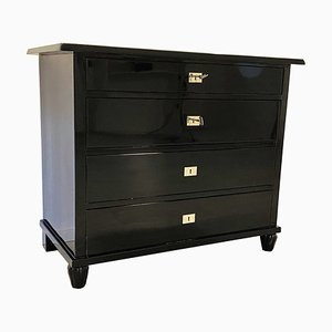 Belgian High-Gloss Black Dresser, 1930s