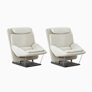 Lounge Chairs by Vittorio Introini for Saporiti Italia, 1970s, Set of 2