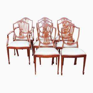 Mahogany Dining Chairs, 1960s, Set of 8