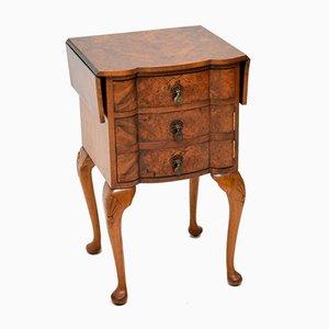 Table d'Appoint Antique en Loupe de Noyer