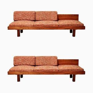 Sofás cama vintage de Pierre Chapo, años 60. Juego de 2