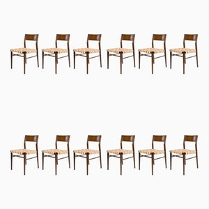Teak Model 351 Dining Chairs by Georg Leowald for Wilkhahn, 1950s, Set of 12