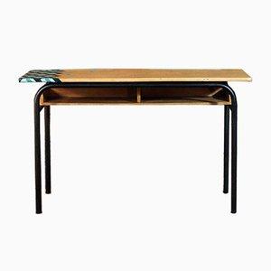 Schreibtisch aus Stahl & Holz, 1950er