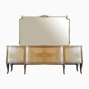 Italian Sideboard with Mirror, 1950s