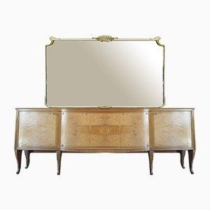 Italienisches Sideboard mit Spiegel, 1950er