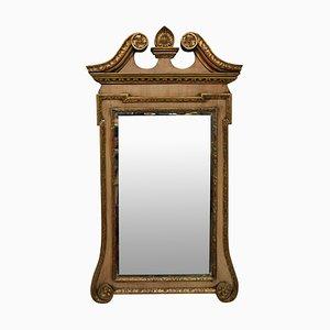 Espejo estilo George III antiguo de caoba y madera dorada