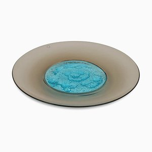Italian Glass Decorative Plate by Tapio Wirkkala for Venini, 1990s