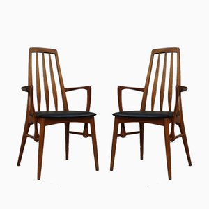 Chaises de Salle à Manger Modèle Eva par Niels Koefoed pour Koefoeds Møbelfabrik, 1960s, Set de 2