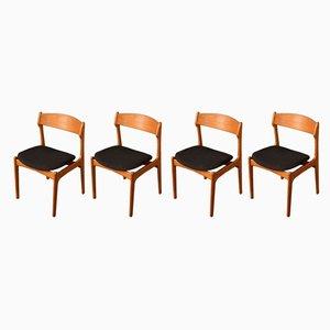 Esszimmerstühle von Erik Buch für Oddense Maskinsnedkeri / O.D. Møbler, 1950er, 4er Set