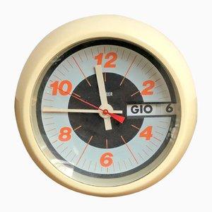 Italienische Space Age Uhr aus Kunststoff von Condor, 1970er